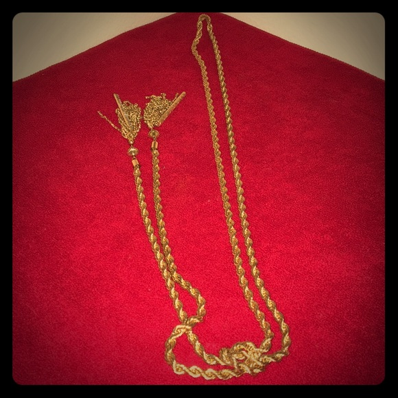BaubleBar Jewelry - Iced Gold Lariat Necklace